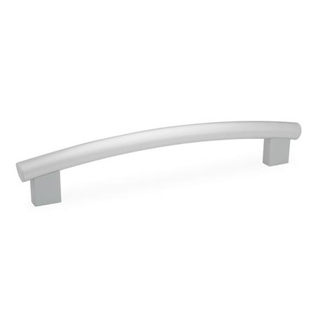 GN 666.4 Tubular arch handles, Tube aluminum / Stainless Steel Finish: ES - anodized, natural color