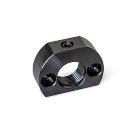 GN 612.1 Mounting blocks, Steel Type: A - Fixing holes parallel to plunger