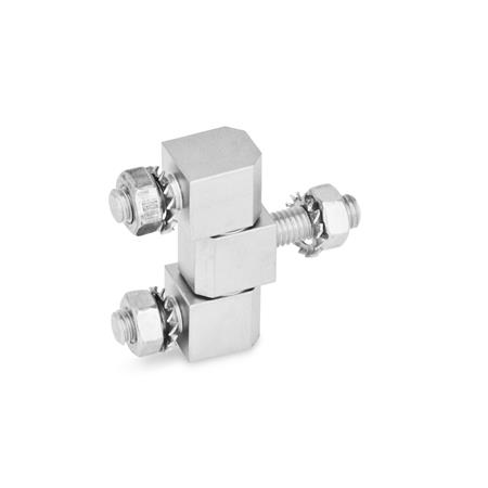 GN 129.5 Stainless Steel-Hinges Material: A4 - Stainless Steel