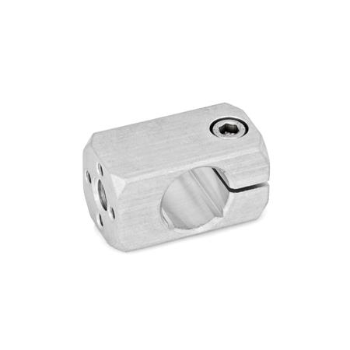 GN 478 Attachment clamp mountings, Aluminium Finish: MT - matte, ground