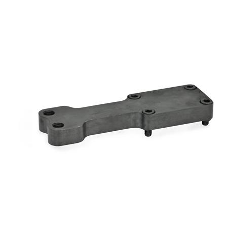 GN 869.1 Single post bracket / Y-bracket accessories for clamping bolts for power clamps Type: Z - for two clamping bolts