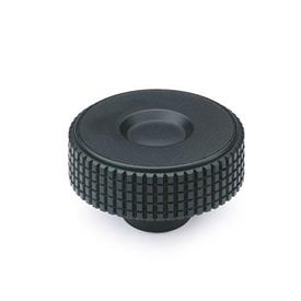 GN 534 Knurled knobs, Plastic