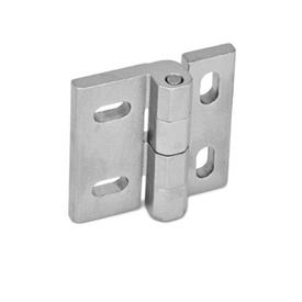 GN 235 Stainless Steel-Hinges, adjustable Material: NI - Stainless Steel<br />Type: HB - vertically and horizontally adjustable<br />Finish: GS - matte shot-blasted