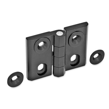 GN 127 Hinges, adjustable, Zinc die casting Type: H - horizontal adjustable