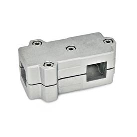 GN 193 T-Angle connector clamps, Aluminium Square s<sub>1</sub>: V 35<br />Finish: BL - blank<br />Identification No.: 2 - with 4 Stainless Steel-clamping screws DIN 912