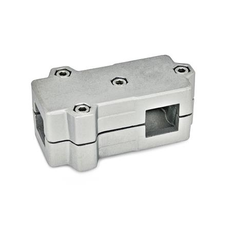 GN 193 T-Angle connector clamps, Aluminium Square s<sub>1</sub>: V 35 Finish: BL - blank Identification No.: 2 - with 4 Stainless Steel-clamping screws DIN 912