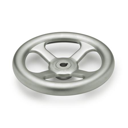 GN 227.4 Stainless Steel-Handwheels, A4 Bore code: K - with keyway Type: A - without handle