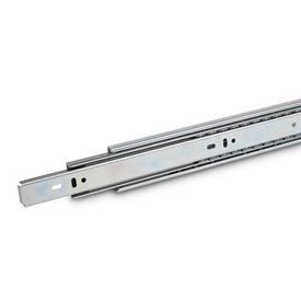 """GN 1418 Telescopic slides with full extension and """"Push to Open"""" - mechanism, load capacity up to 430N"""