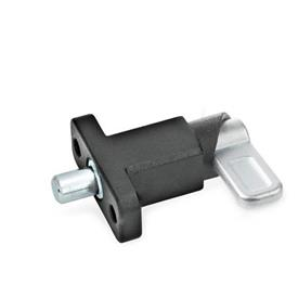 GN 722.2 Spring latches with flange for surface mounting Type: B - Latch position parallel to fixing holes<br />Finish: SW - black, textured finish