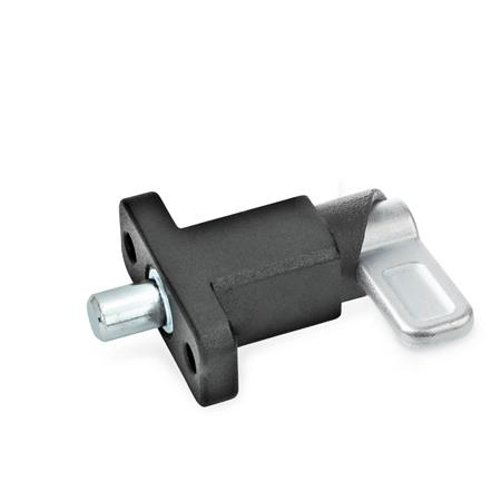 GN 722.2 Spring latches with flange for surface mounting Type: B - Latch position parallel to fixing holes Finish: SW - black, textured finish