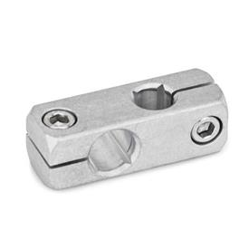 GN 474 Two-Way Mounting Clamps, Aluminum Finish: MT - Matte, ground