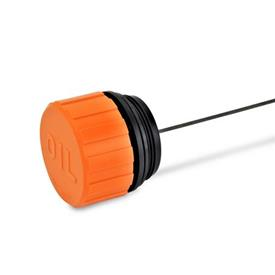 GN 663 Breather caps, Plastic Thread d<sub>2</sub>: G 2<br />Type: B - with dipstick