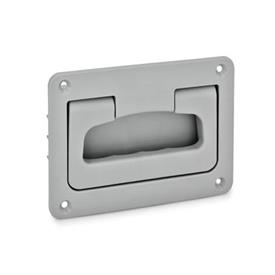 GN 825.2 Folding handles with recessed tray, Plastic Color: GR - gray, RAL 7040, matte