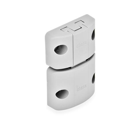 GN 449 Spring-bolt door latches Type: A - Snap lock, without interlock, without finger handle Color: LG - gray, matte