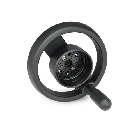 GN 522.8 Spoked handwheels for position indicators Type: D - with revolving handle