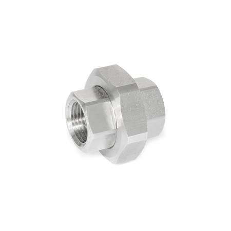 GN 7405 Stainless Steel-Strainer fittings Type: A - Fitting with female thread, on both ends
