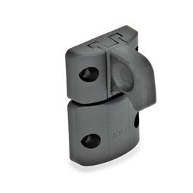 GN 449 Spring-bolt door latches Type: B - Snap lock, with interlock, with finger handle<br />Color: SW - black, matte