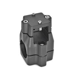 GN 135.1 Linear actuator connectors, Aluminum d<sub>1</sub> / s<sub>1</sub>: V - Square<br />d<sub>2</sub> / s<sub>2</sub>: B - Bore