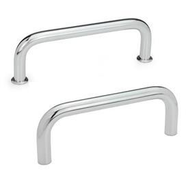 GN 425 Bügelgriffe, Stahl Werkstoff: ST - Stahl<br />Oberfläche: CR - verchromt