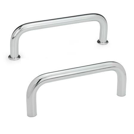 GN 425 Cabinet U-handles, Steel Material: ST - Steel Finish: CR - chrome-plated
