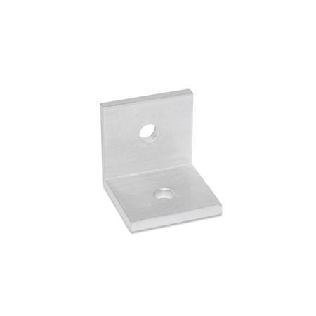GN 970 Montage-Winkel, gleichschenklig Werkstoff: ALM - Aluminium Winkelform: B - mit Bohrungen