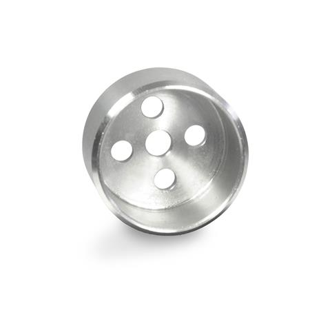GN 187.1 Boîtiers de positionnement en inox, pour disques d'indexation GN187.4 Matériau: NI - Inox