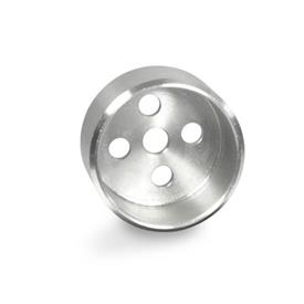 GN 187.1 Stainless Steel Guide Pots, for Serrated Locking Plates GN 187.4 Material: NI - Stainless steel
