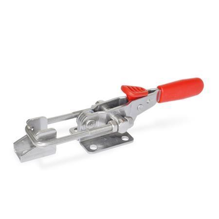 GN 851.3 Edelstahl-Verschlussspanner mit Verriegelung, für Zugspannung Form: T6 - mit Zugbügel, mit Gegenhalter Werkstoff: A4 - Edelstahl