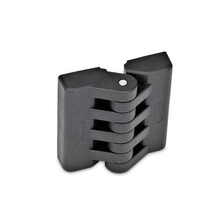 GN 151 Scharniere, Kunststoff Form: A - 2x2 Gewindesacklöcher