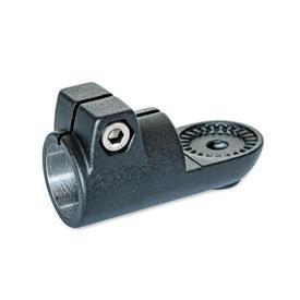 GN 276 Laschen-Klemmverbinder, Aluminium Form: IV - mit Innenverzahnung<br />Oberfläche: SW - schwarz, RAL 9005, strukturmatt