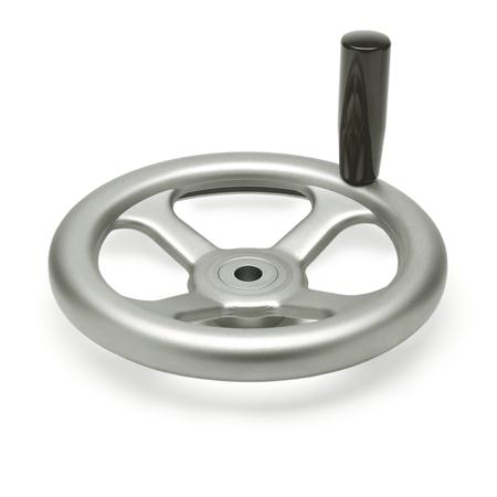 GN 227.2 Handwheels, pressed Stainless Steel, AISI 304 (A2) Bore code: B - without keyway Type: D - with revolving handle