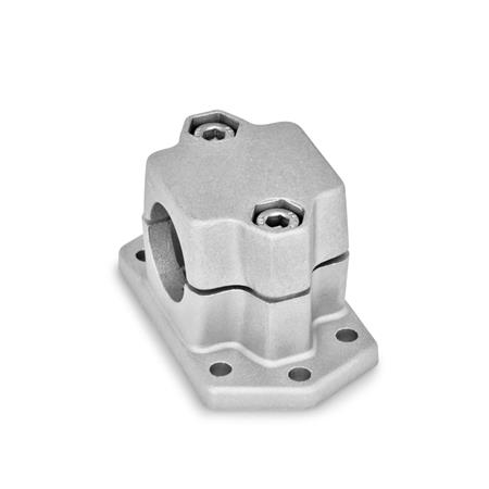 GN 147.3 Flanged connector clamps, Aluminum d<sub>1</sub> / s: B - Bore Finish: BL - blank