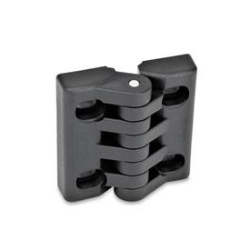 GN 151.4 Hinges with slotted holes Type: B - horizontally adjustable