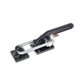 GN 852.3 Latch Type Toggle Clamps with Safety Hook, Heavy Duty Type Type: T6 - With mounting holes, with U-bolt latch, with catch