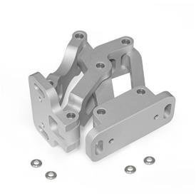 GN 7243 Multiple-joint hinge, concealed, opening angle 120°, Aluminum