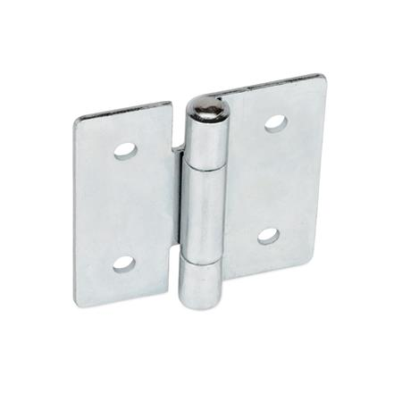 GN 136 Sheet metal hinges, square or vertically elongated Material: ST - Steel Type: B - with through-holes