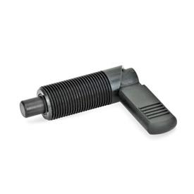 GN 612 Cam action indexing plungers, Steel Type: B - with plastic cap, without lock nut