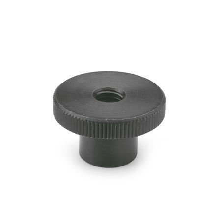 DIN 466 Knurled nuts, Steel, blackened Material: ST - Steel