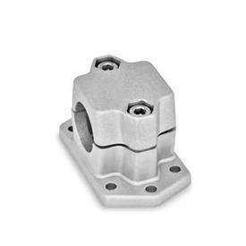 GN 147.3 Abrazaderas de conexión embridadas, aluminio d<sub>1</sub> / s: B - Orificio redondo<br />Acabado: BL - natural, granallado mate