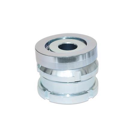 GN 350.2 Vérins de précision avec rondelle sphérique, acier Matériau: ST - Acier
