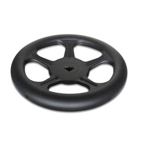 GN 228 Handwheels, made of sheet steel Material: ST - Steel<br />Bore code: V - with square<br />Type: A - without handle