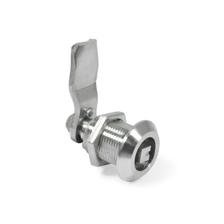GN 516.5 Rotary clamping latches, Stainless Steel Type: VK8 - Operation with square spindle A/F8
