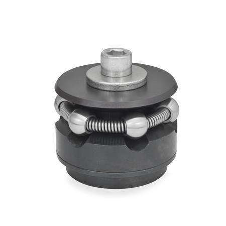 GN 411.2 Zentrierspanner, Stahl Form: K - mit Spannkugeln