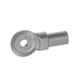 GN 187.5 Stainless Steel-Locking plates Type: A - Stud, unthreaded (for welding on)