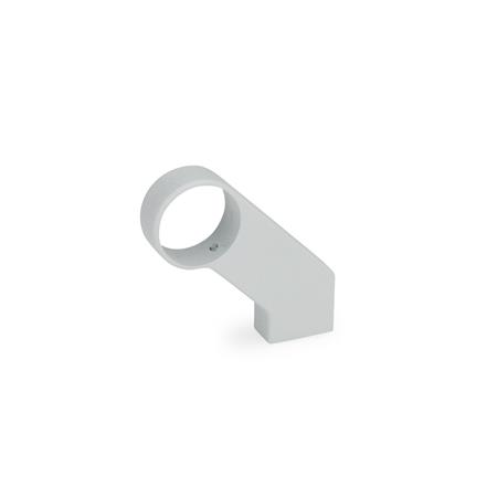 GN 333.8 Handle legs for tubular handles, Zinc die casting Finish: SR - silver, RAL 9006, textured finish