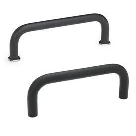 GN 425 Bügelgriffe, Stahl Werkstoff: ST - Stahl<br />Oberfläche: SW - schwarz, RAL 9005, strukturmatt