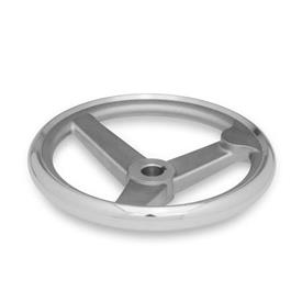 GN 950.6 Edelstahl-Handräder  Bohrungskennzeichnung: K - mit Nabennut<br />Form: A - ohne Griff