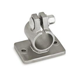 GN 146.6 Edelstahl-Flansch-Klemmverbinder Form: A - ohne Dichtungen