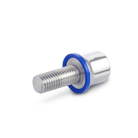 GN 1580 Stainless Steel-Screws, Hygienic Design, with EPDM sealing ring Finish: PL - polished (Ra < 0.8 µm) Material (sealing): E - Ethylene propylene diene rubber (EPDM)