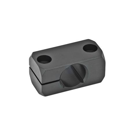 GN 477 Clamp mountings, Aluminum Finish: ELS - anodized black